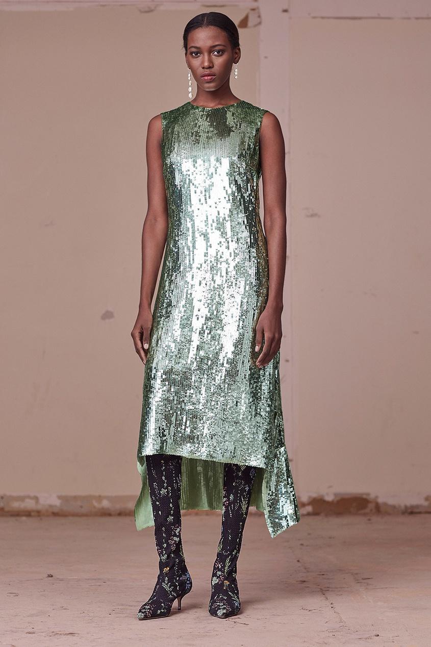 Altuzarra Шелковое платье в пайетках altuzarra кожаные сапоги