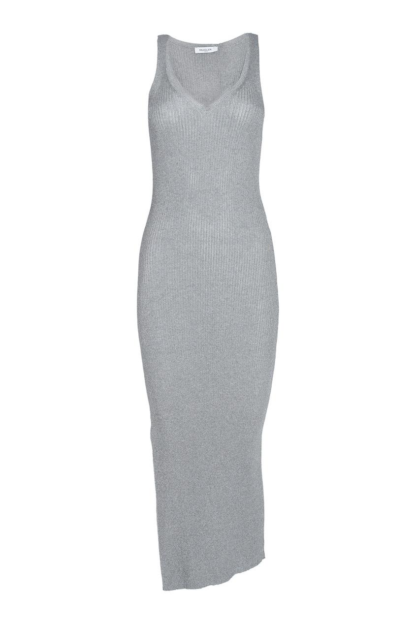 Mugler Шелковое платье