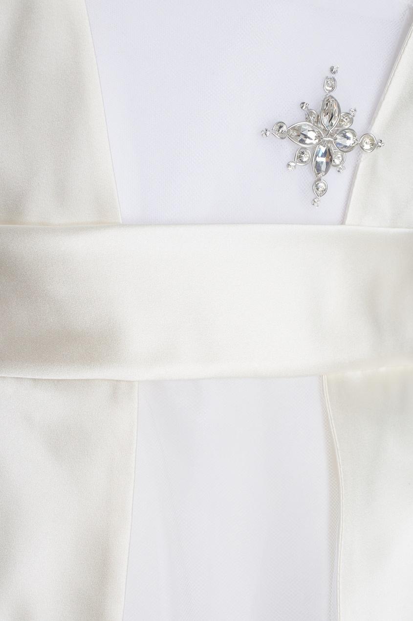 Платье из тюля с кристаллами