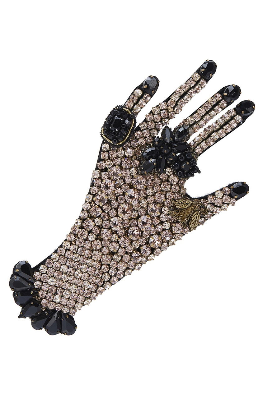 Gucci Брошь с кристаллами