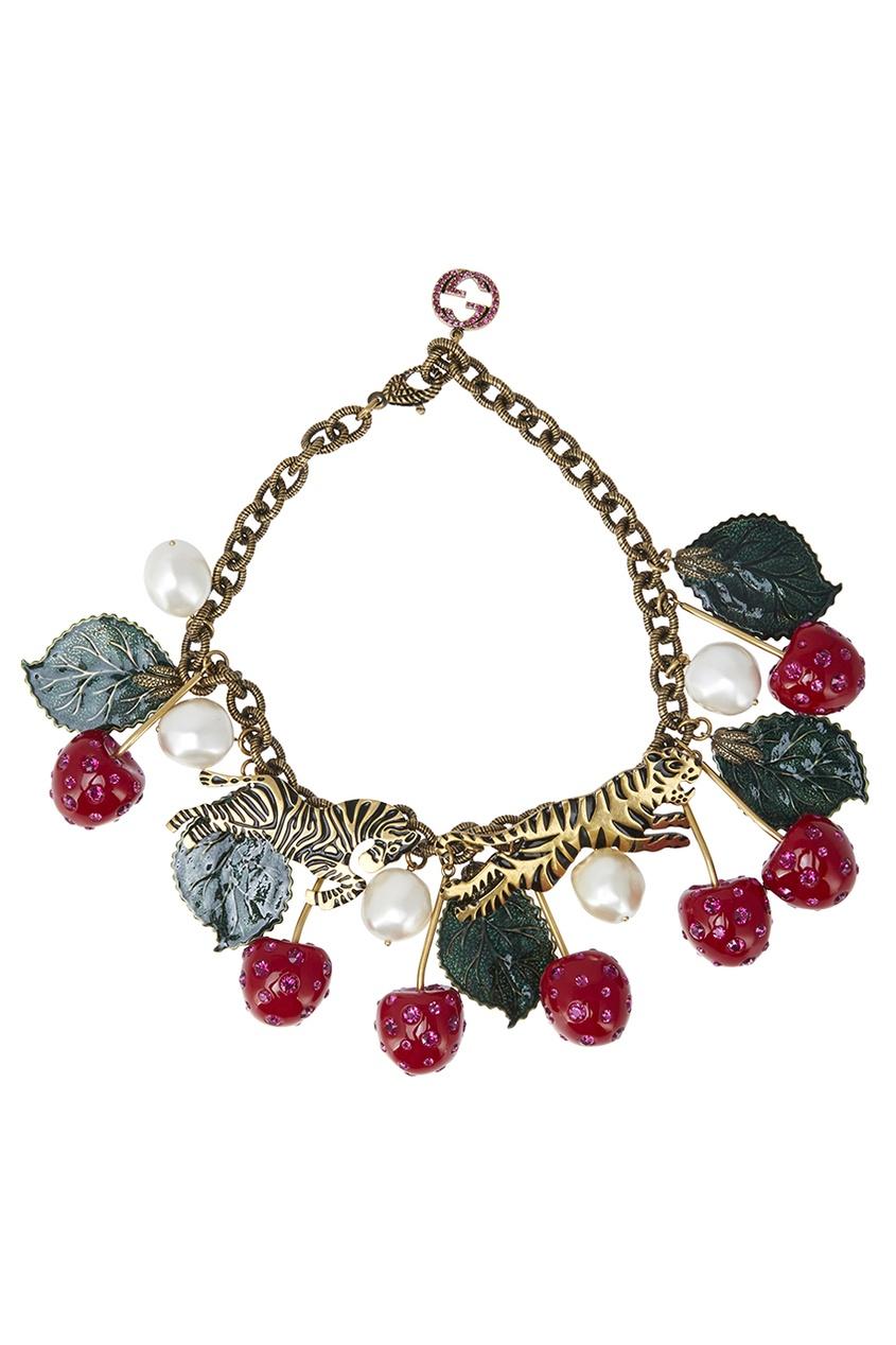 Gucci Ожерелье с жемчужинами
