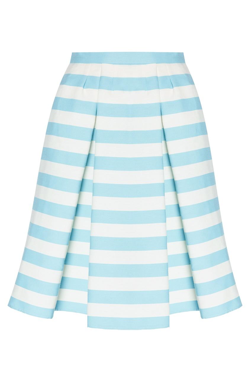 Комбинированная юбка в полоску