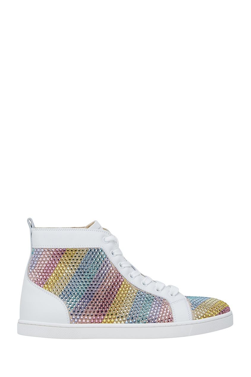 Christian Louboutin Кожаные кеды Rainbowbip