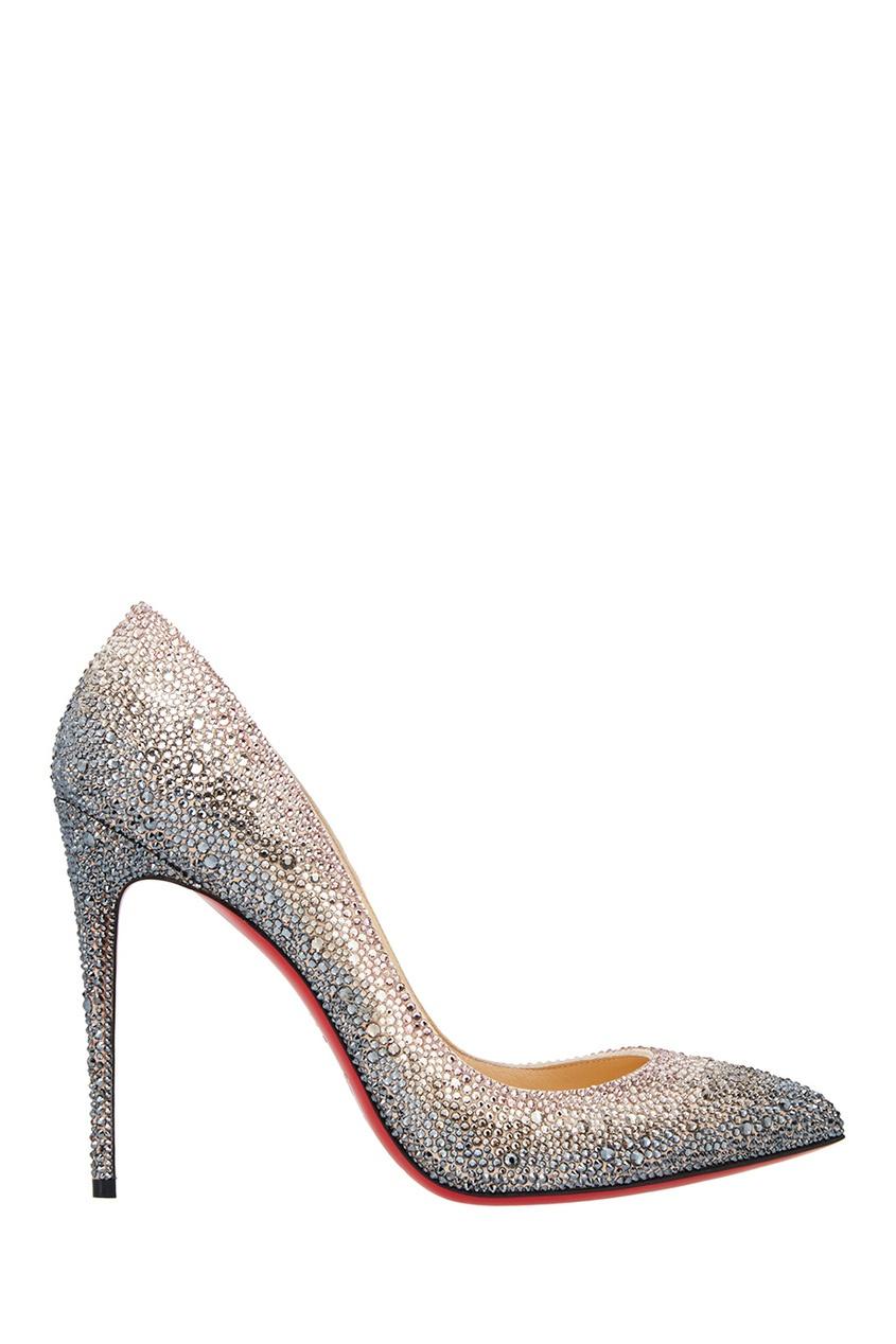 Замшевые туфли Pigalle 100 от Christian Louboutin