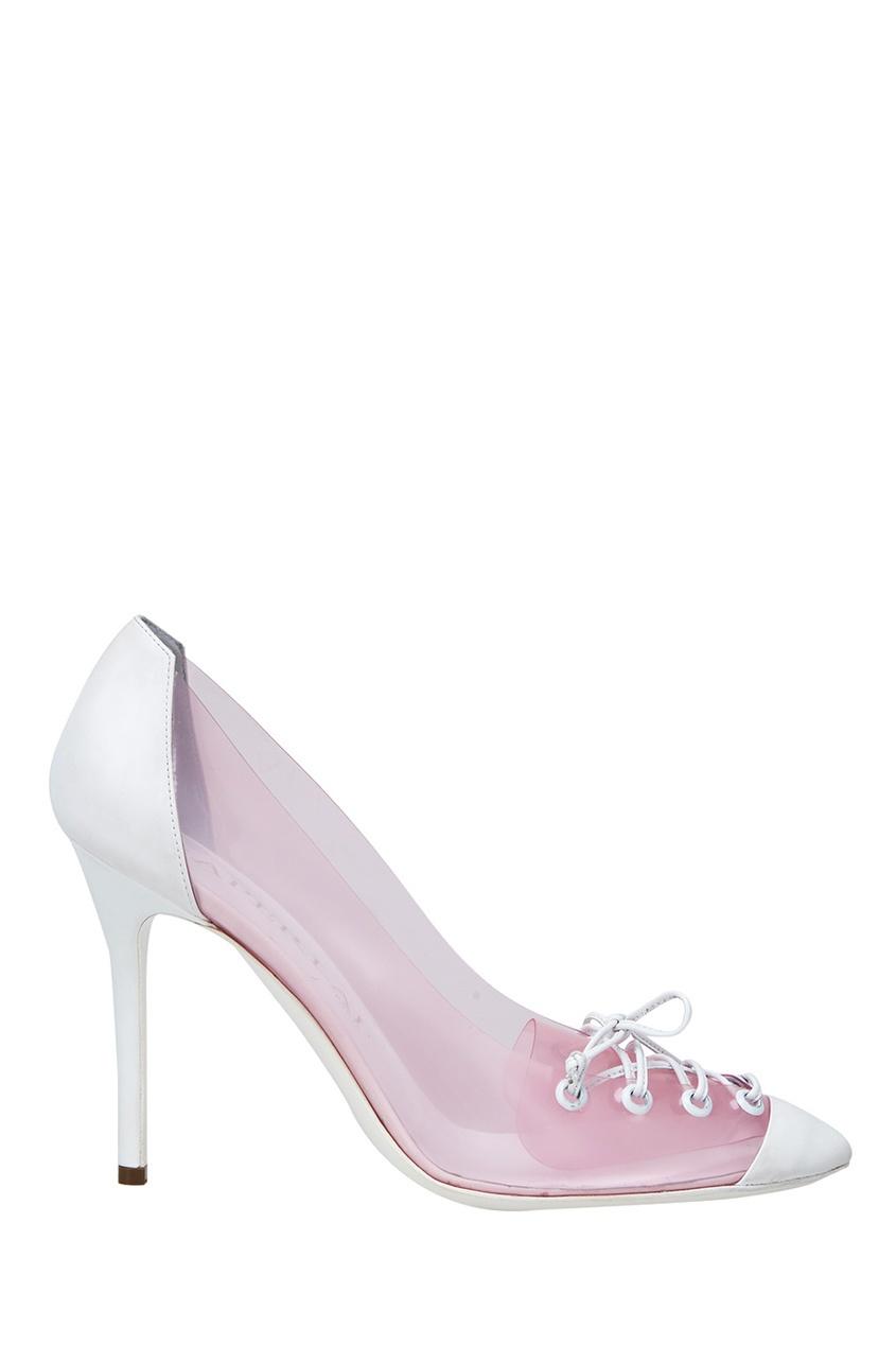 Туфли из винила Aperlai 8050046 розовый фото