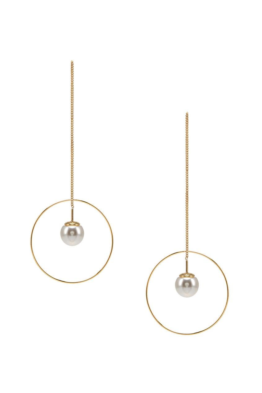 Lisa Smith Золотистые серьги с какой застежкой купить серьги