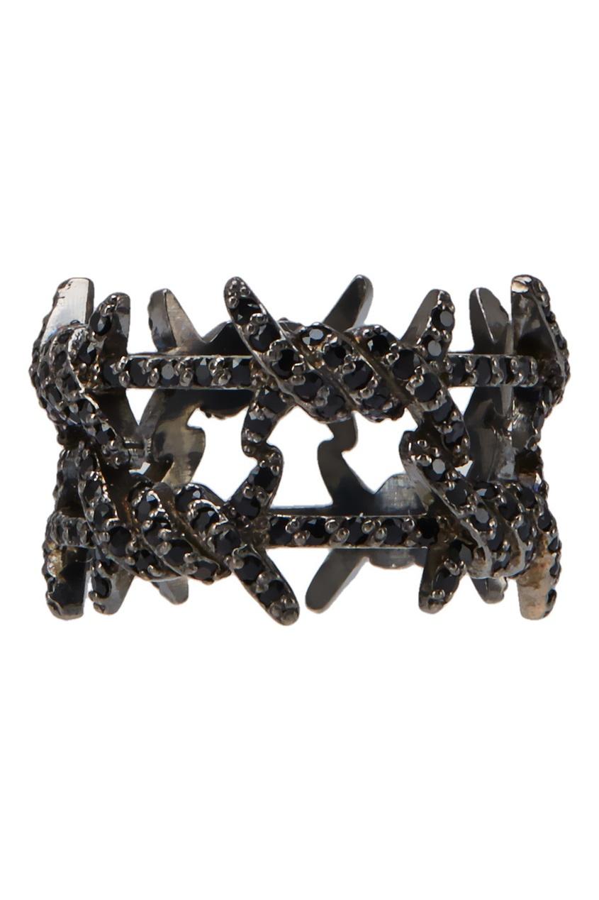 Caviar Jewellery Серебряное кольцо с кристаллами caviar jewellery серебряные серьги кольца