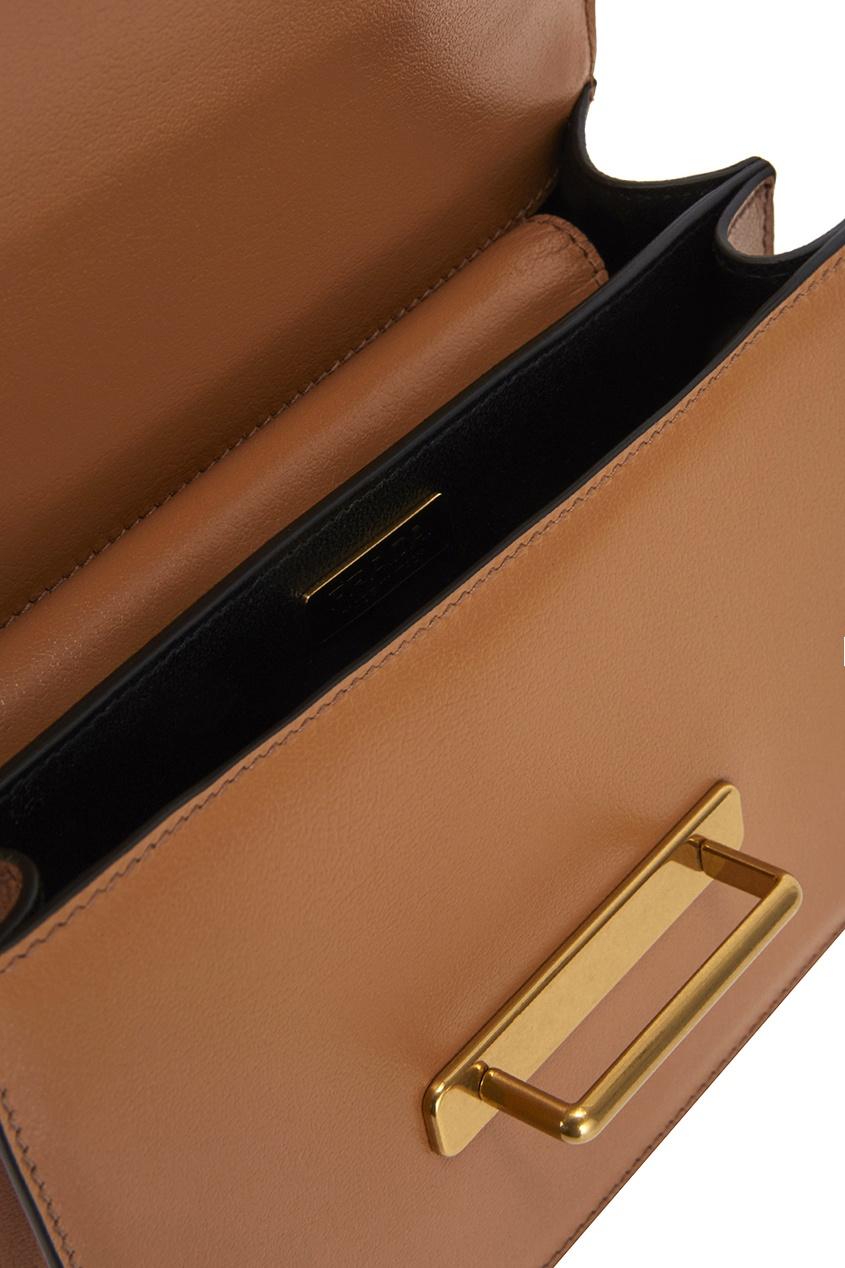 Prada Кожаная сумка с вышивкой Ethnical Cahier
