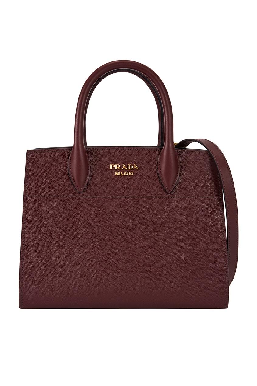 Prada Кожаная сумка Bibliotheque сумка prada nms14 v1tn6 n5887s