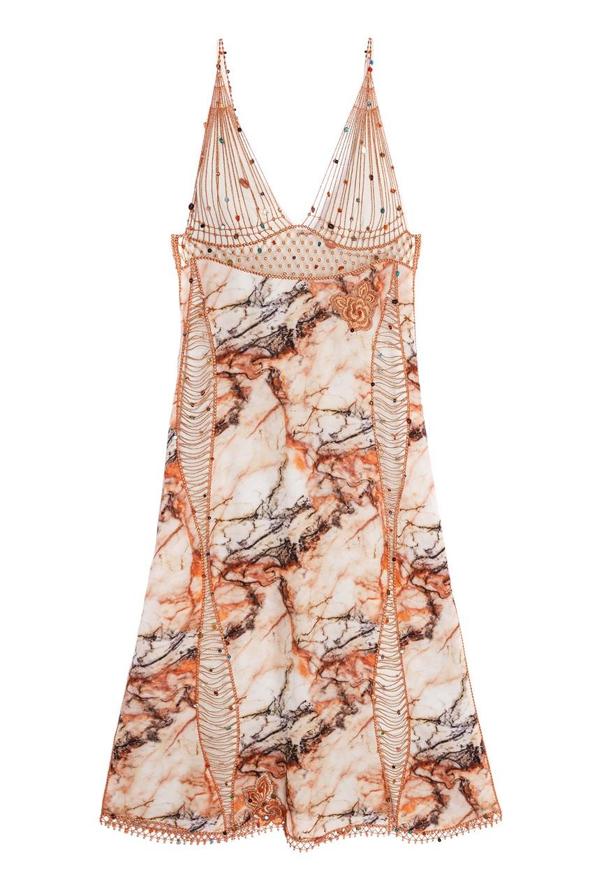 Christopher Kane Шелковое платье