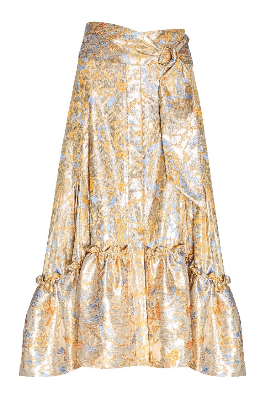 женская юбка peter pilotto, золотая