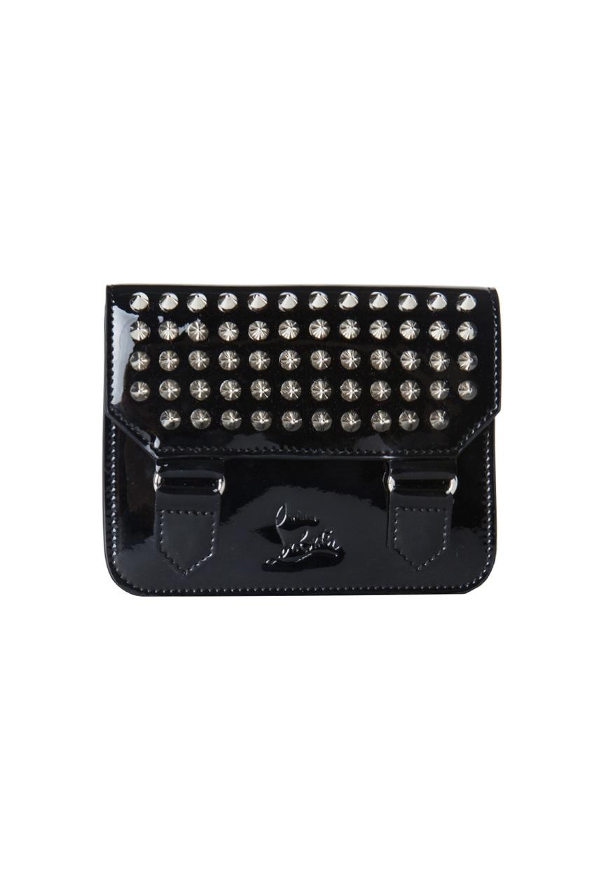 Кожаный кошелек Jessie Patent/Calf Paris/Spikes