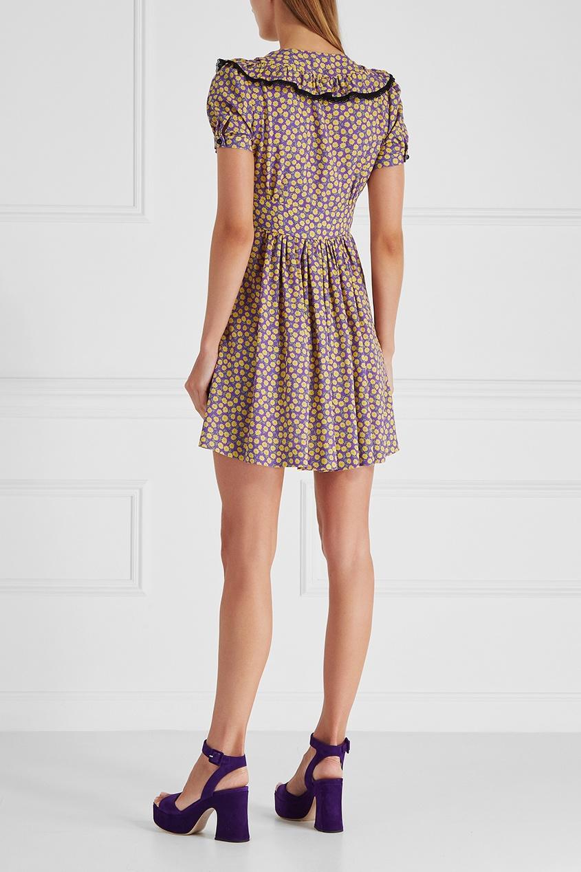 Miu Miu Платье с принтом