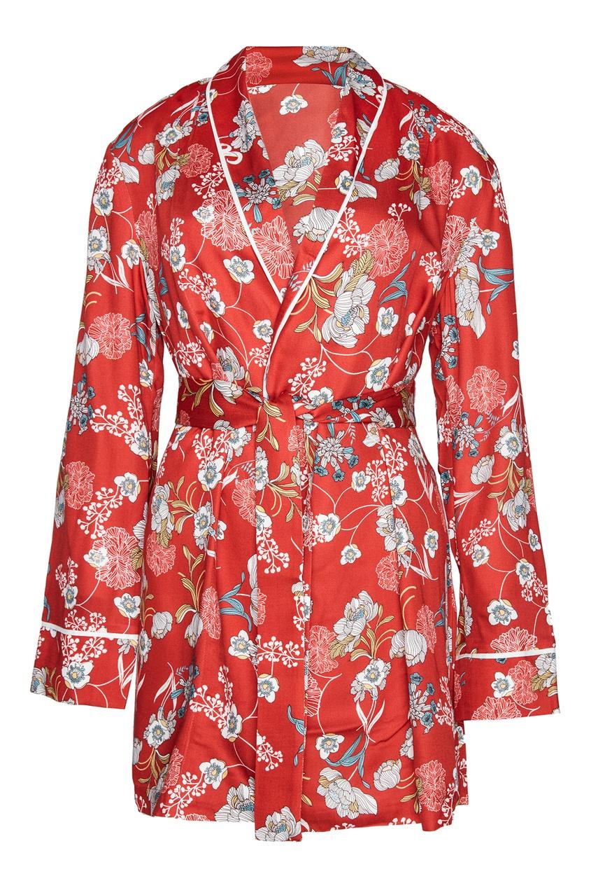 Жакет-кимоно с принтом