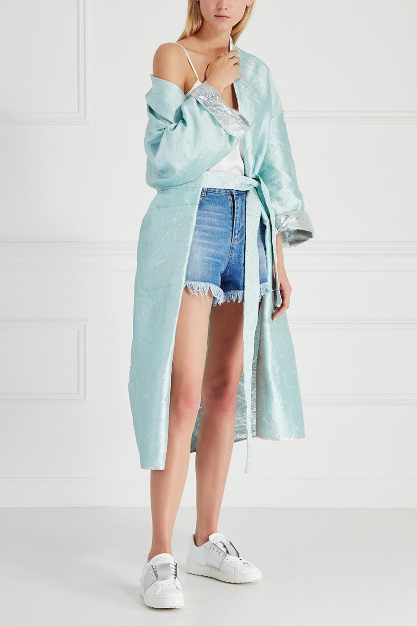 Шелковое пальто-халат Passion