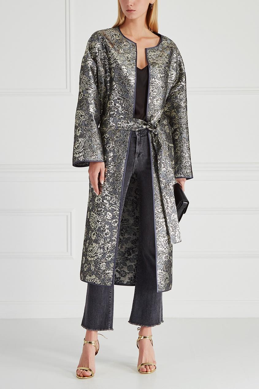 Купить со скидкой Шелковое пальто-халат Queen