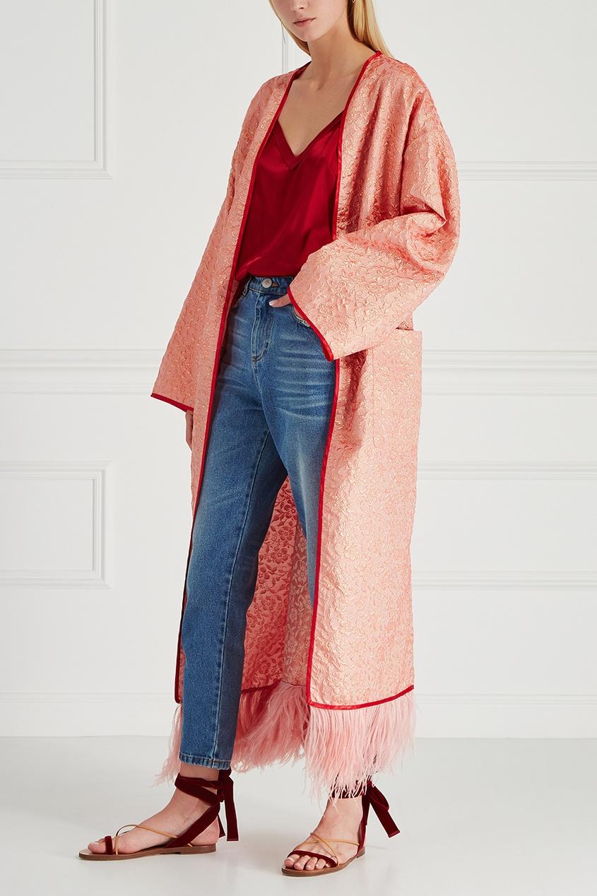 Шелковое пальто-халат Royal