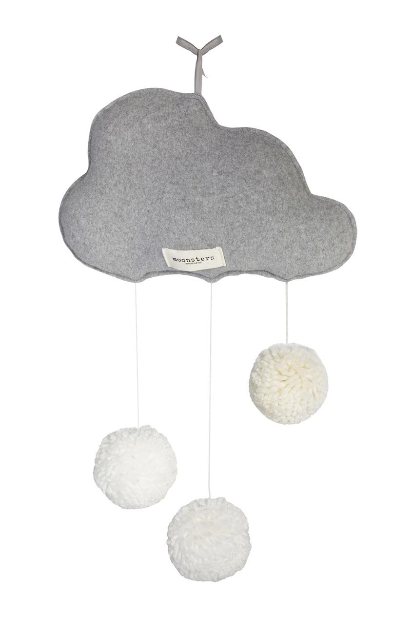 Декор для кроватки «Облачко с помпонами»