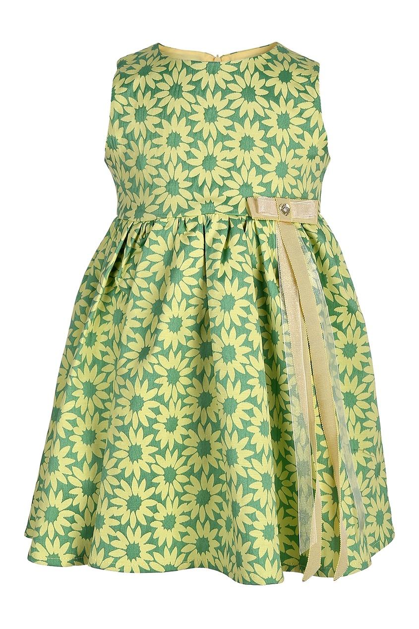 Платье из хлопкового жаккарда Amber