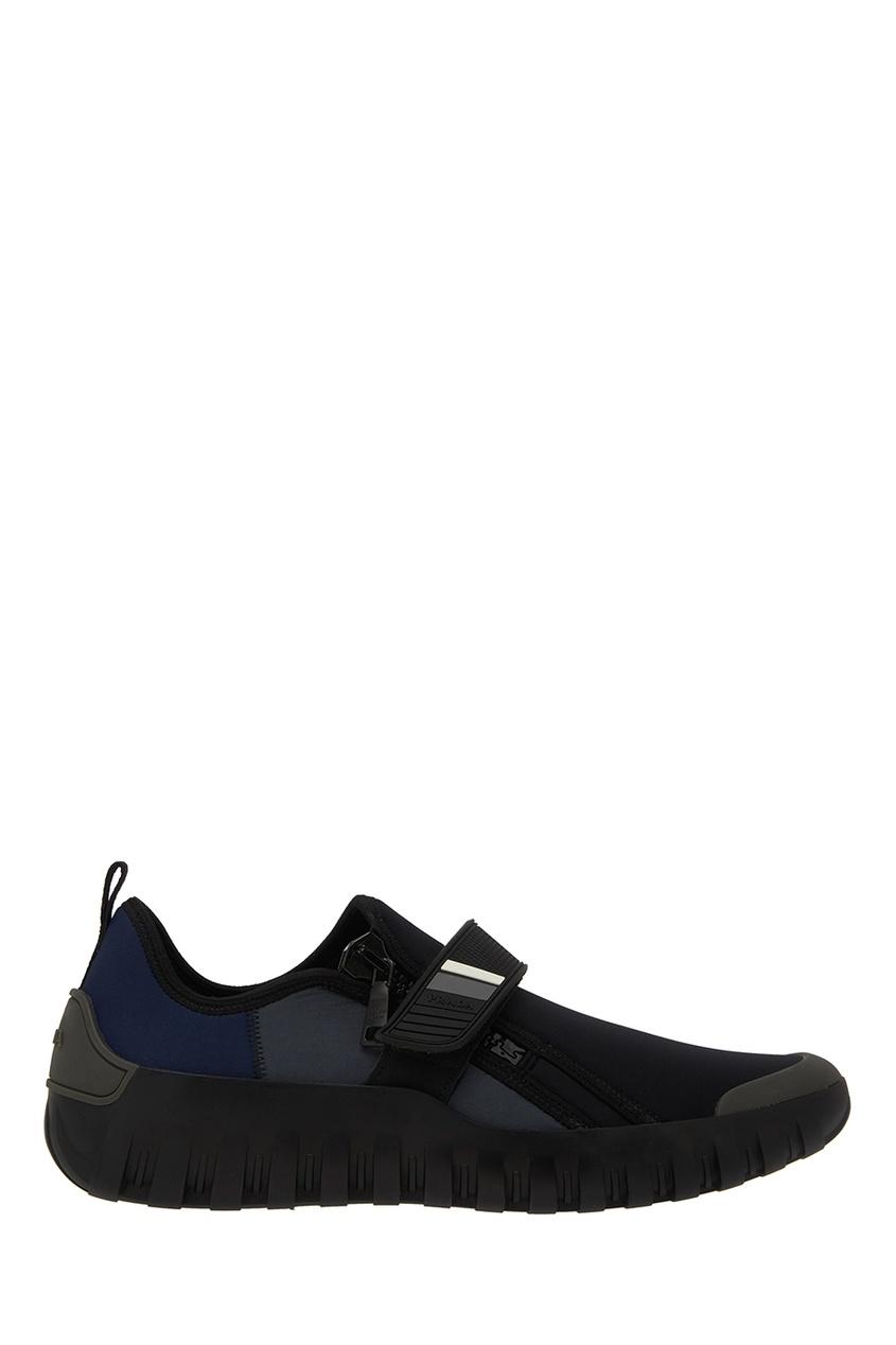 Текстильные кроссовки от Prada