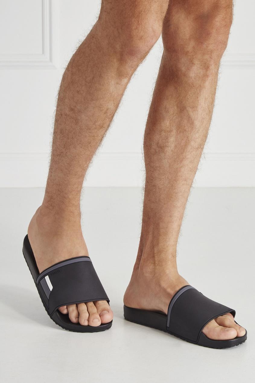 мужские сандалии prada, черные