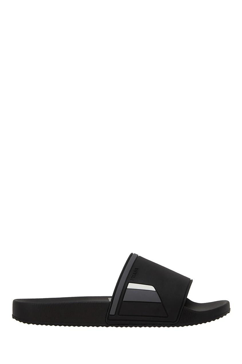 Prada Однотонные сандалии сандалии velvet сандалии на обычной подошве
