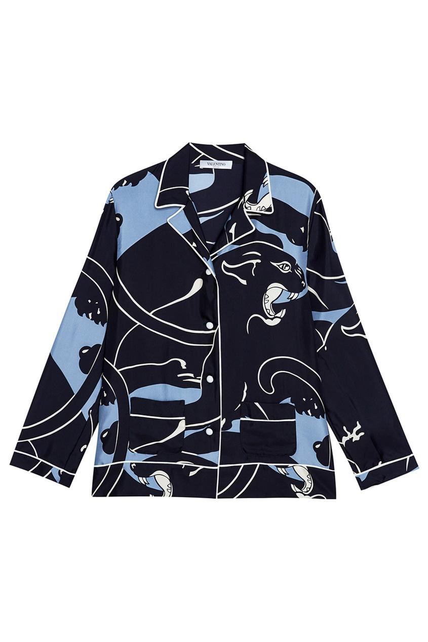 Valentino Шелковая блузка украшения сороковых годов в стиле ар деко