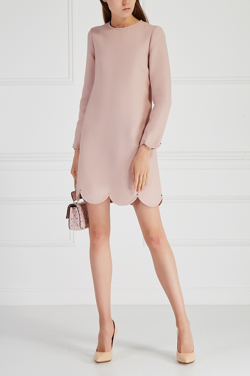 Valentino Платье из шерсти и шелка костюмы pepelino костюмы