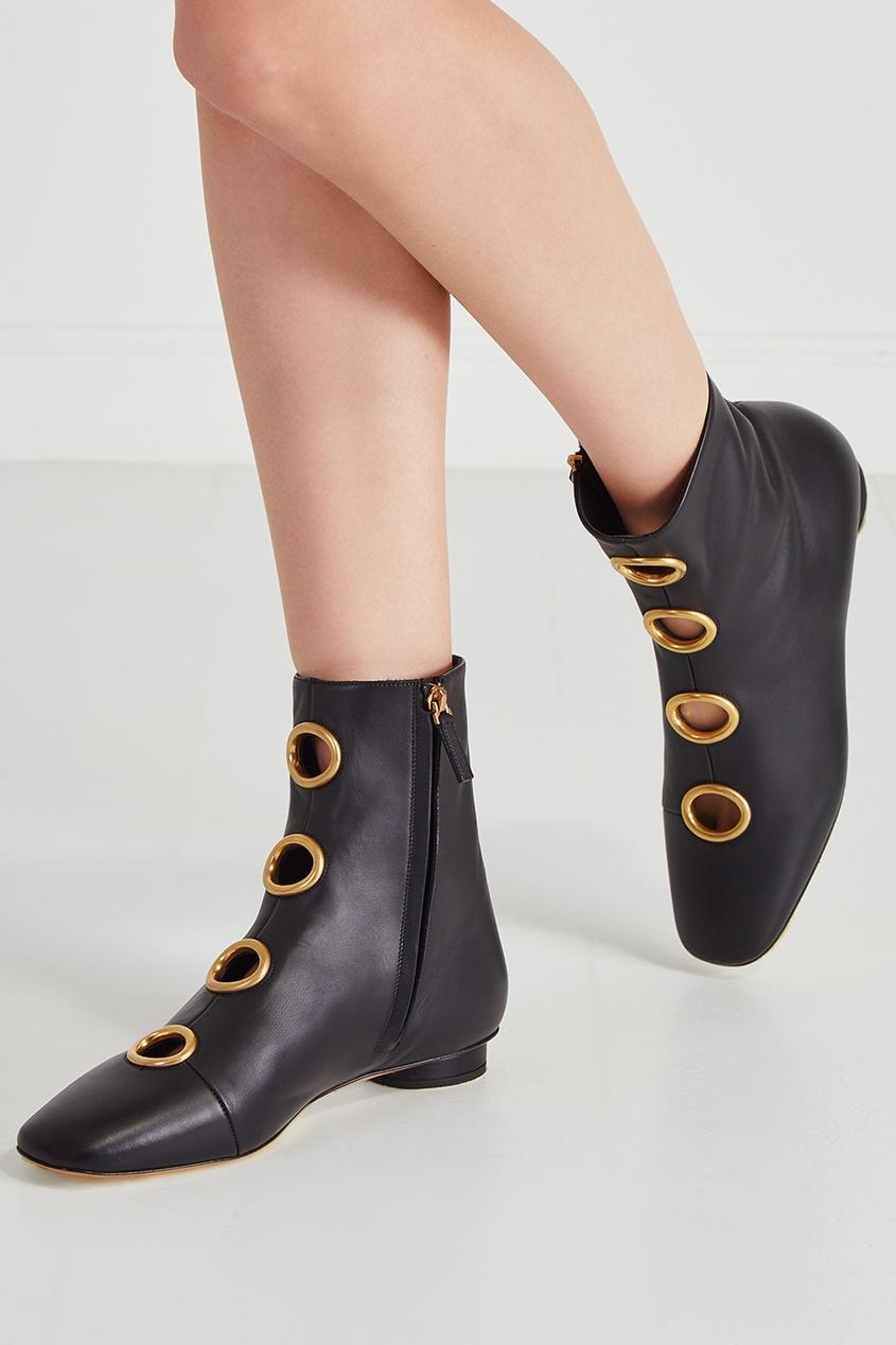 Valentino Кожаные ботинки ботинки кожаные с кисточками