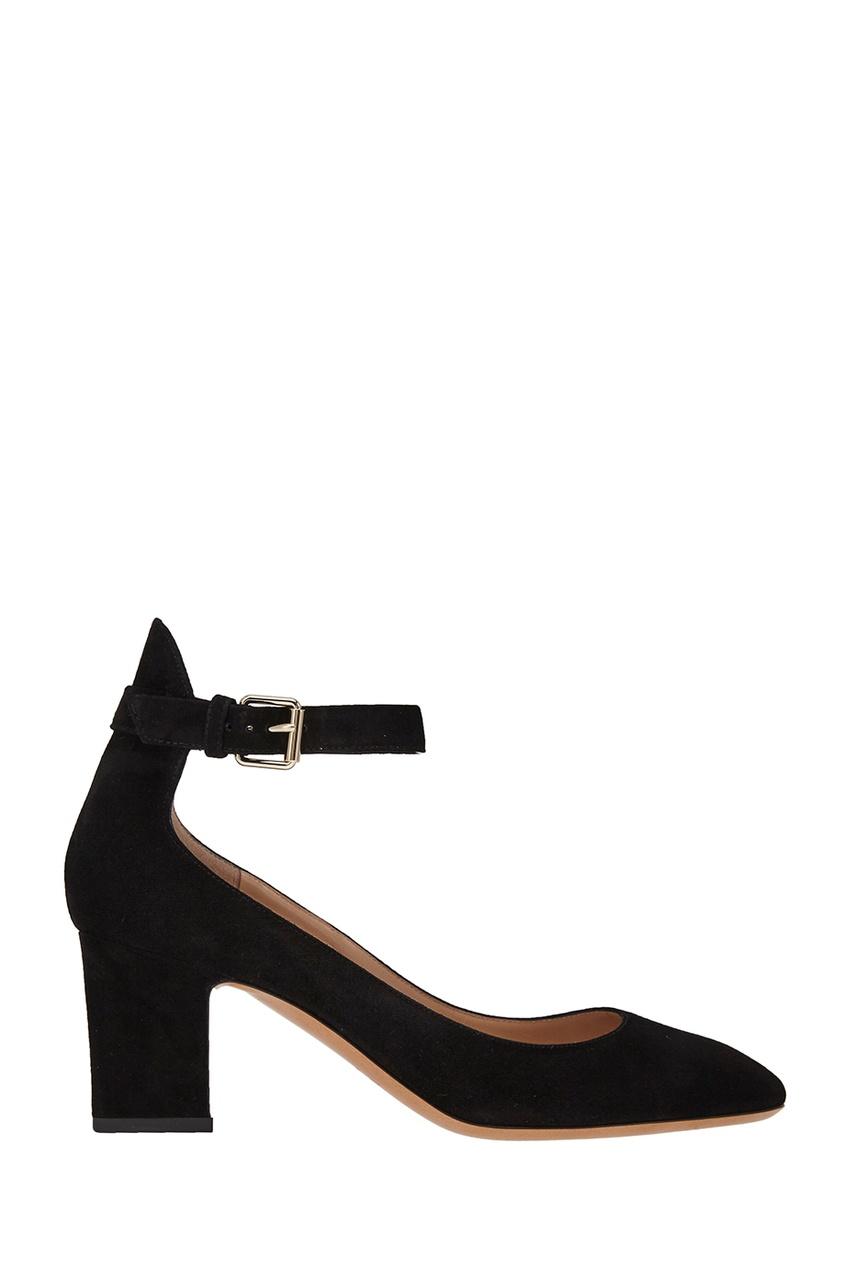 Туфли из черной замши