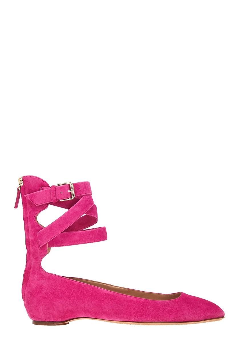 Valentino Замшевые балетки с многослойным ремешком red valentino кожаные ботинки с двойным ремешком