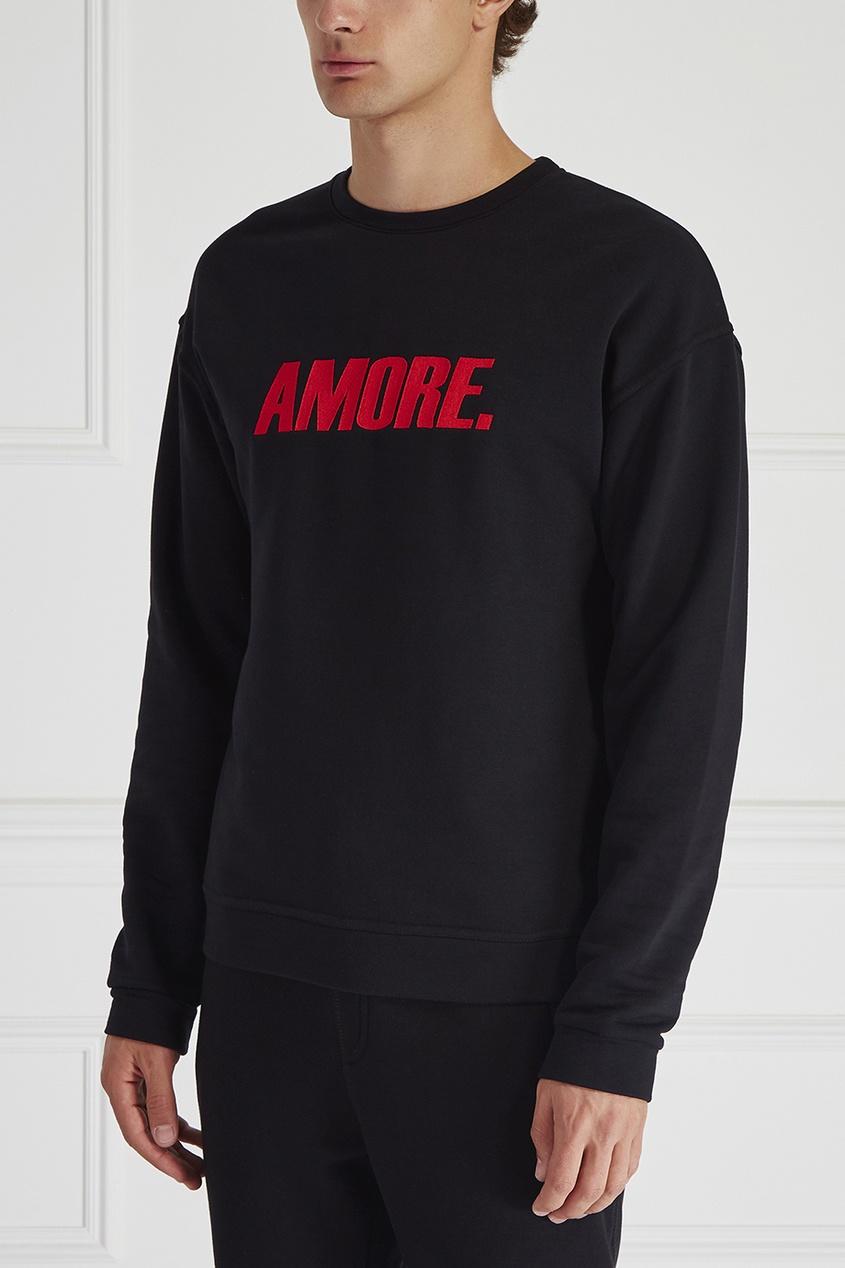 Хлопковый свитшот Amore
