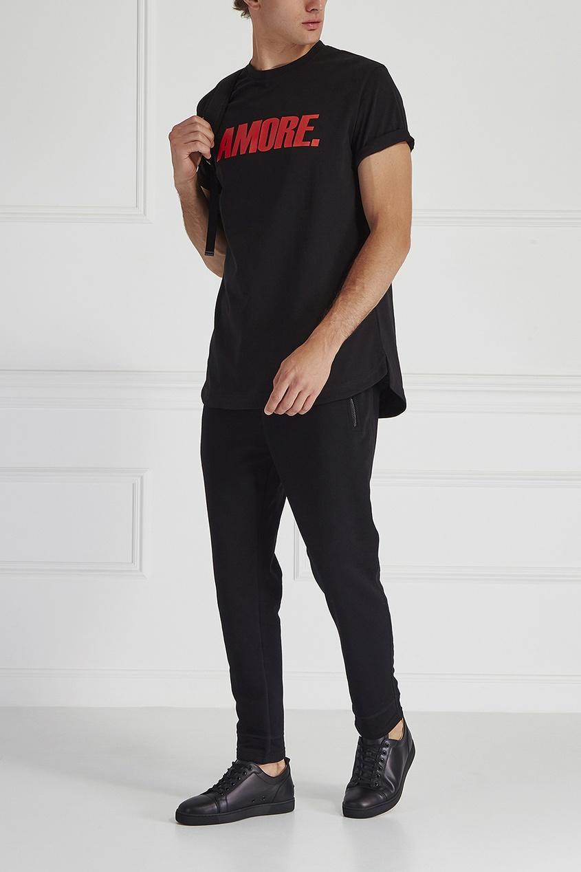 Хлопковая футболка Amore