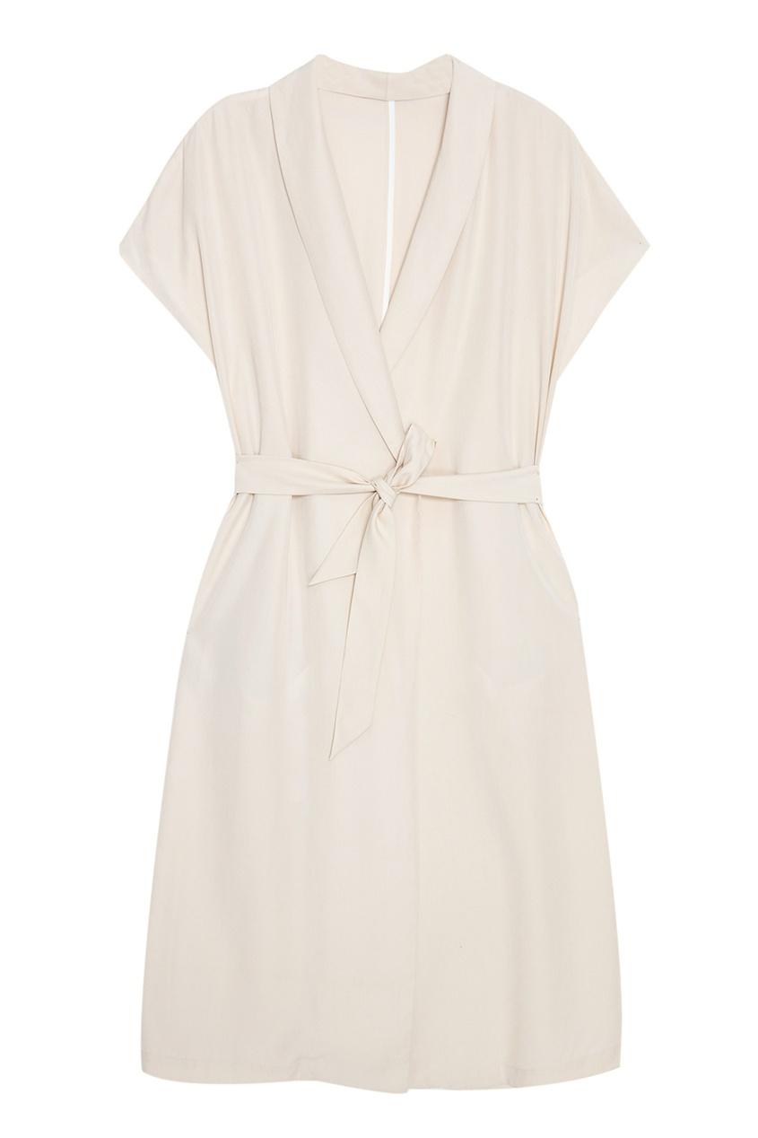 Однотонное платье-халат