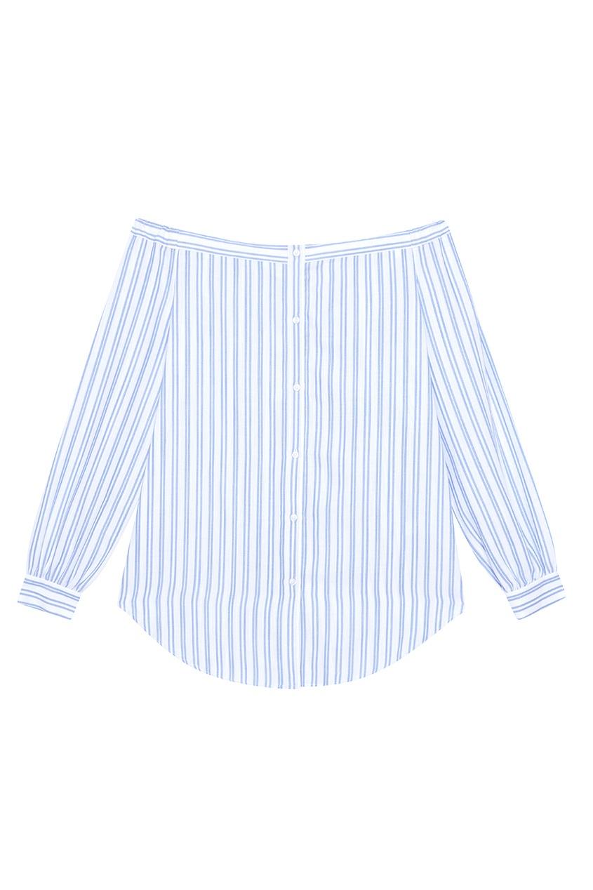 Addicted Хлопковая блузка блузка с воланами из хлопка