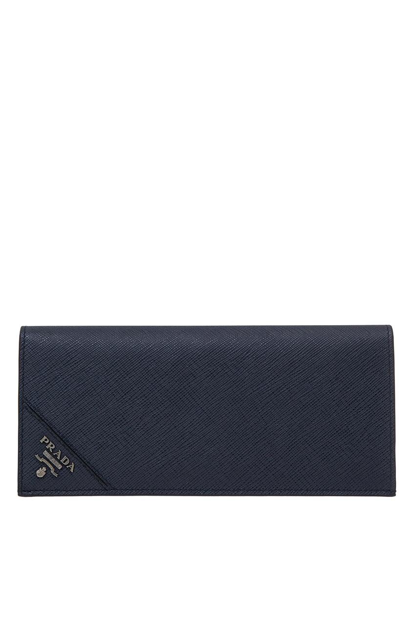мужской кошелёк prada, синий