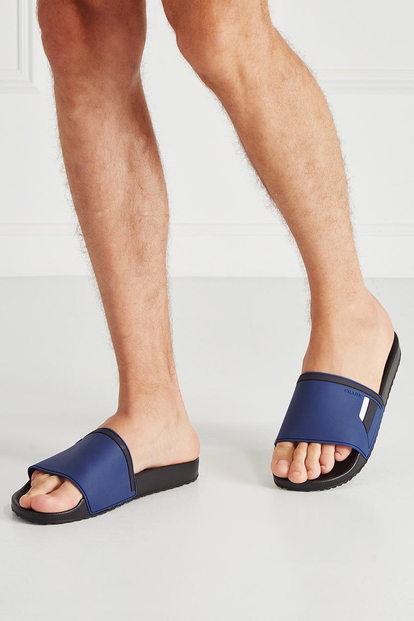 мужские сандалии prada, синие