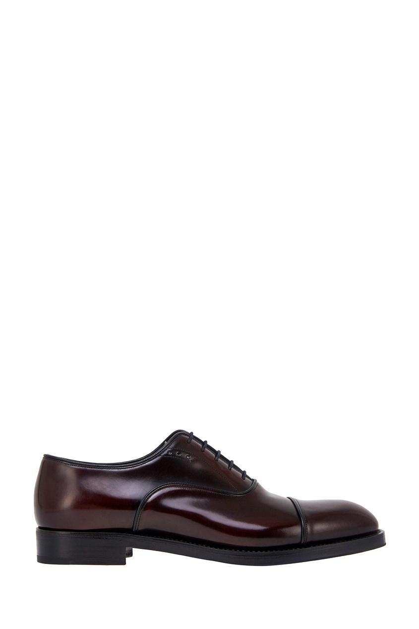 мужские туфли-оксфорды prada, красные