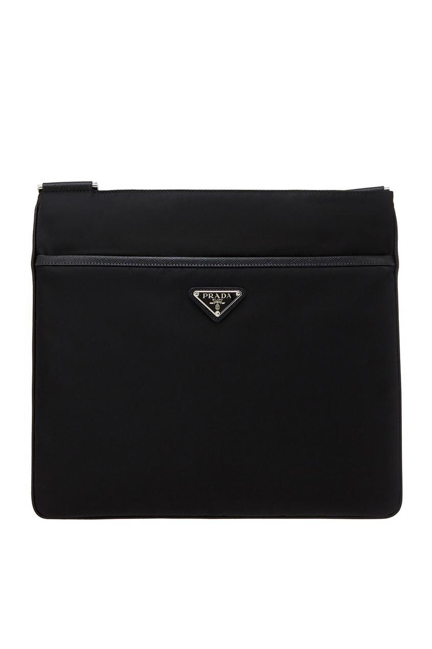 Купить Текстильная сумка от Prada черного цвета