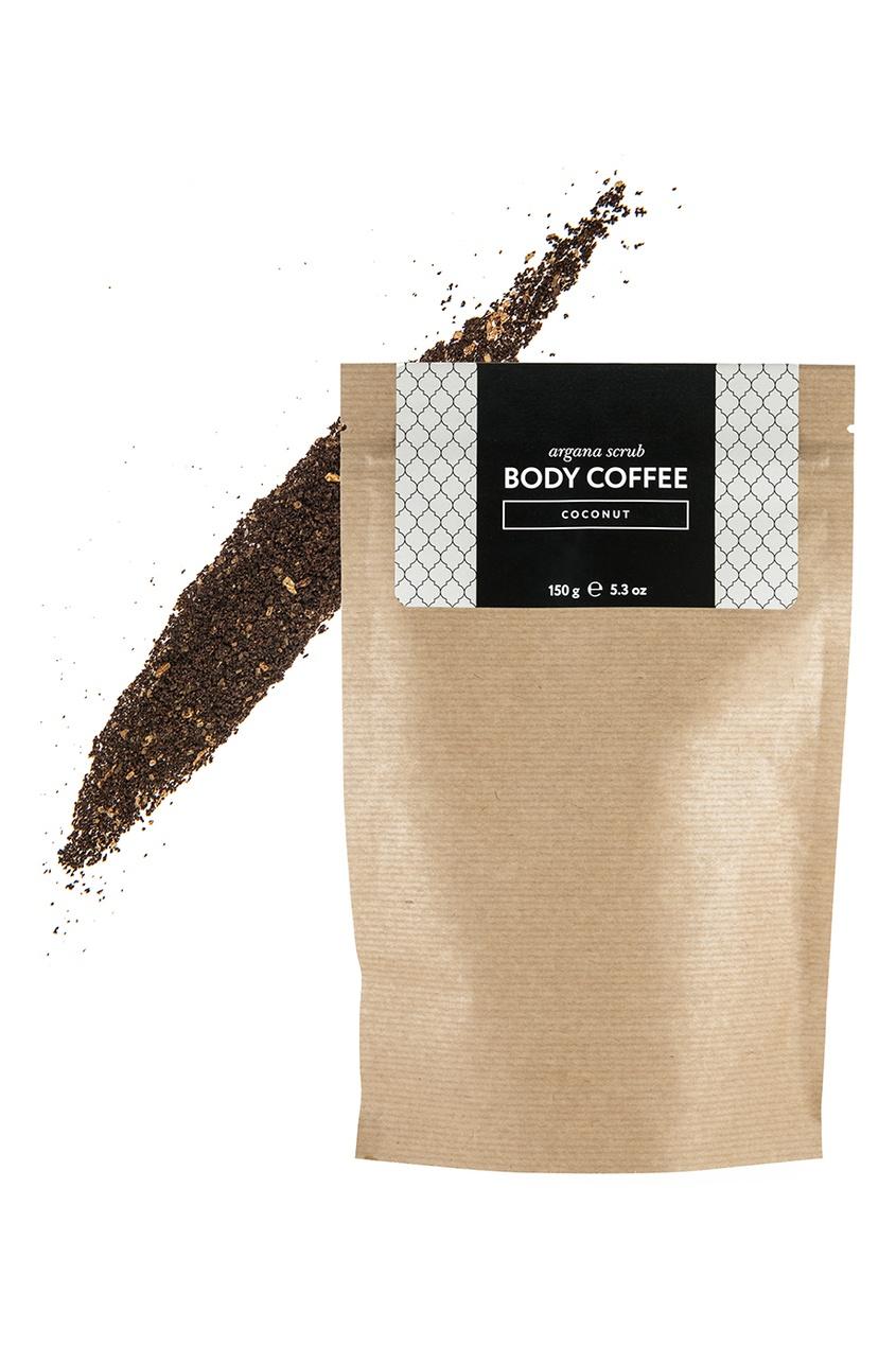 Huilargan Аргановый скраб Body_Coffee Coconut, 150 g скрабы huilargan аргановый скраб кофе huilargan клубника со сливками 30 гр