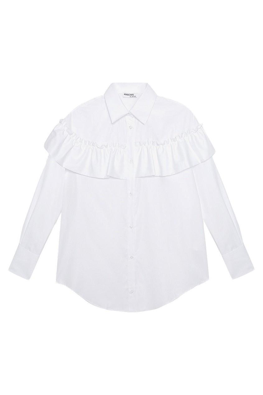 Addicted Хлопковая рубашка no 21 хлопковая рубашка с перьями
