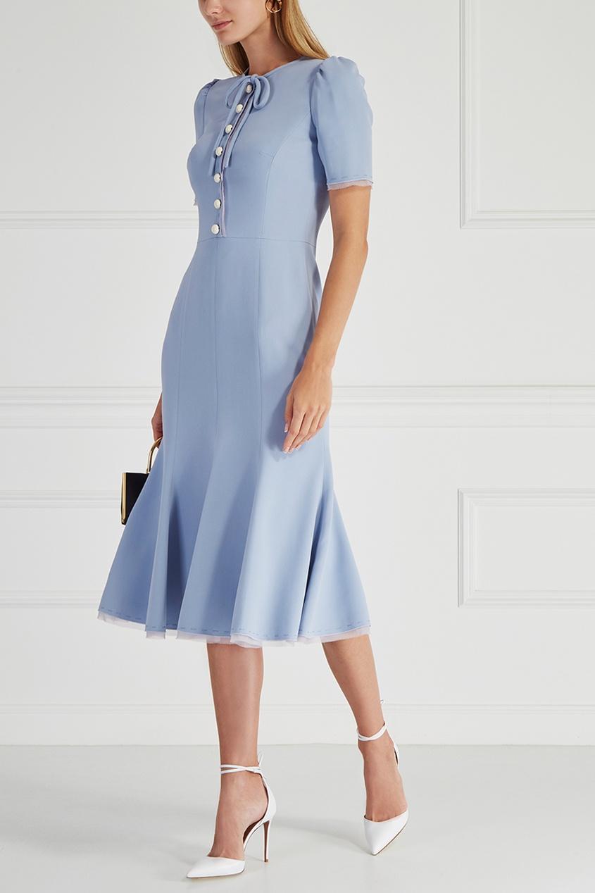 Купить со скидкой Однотонное платье