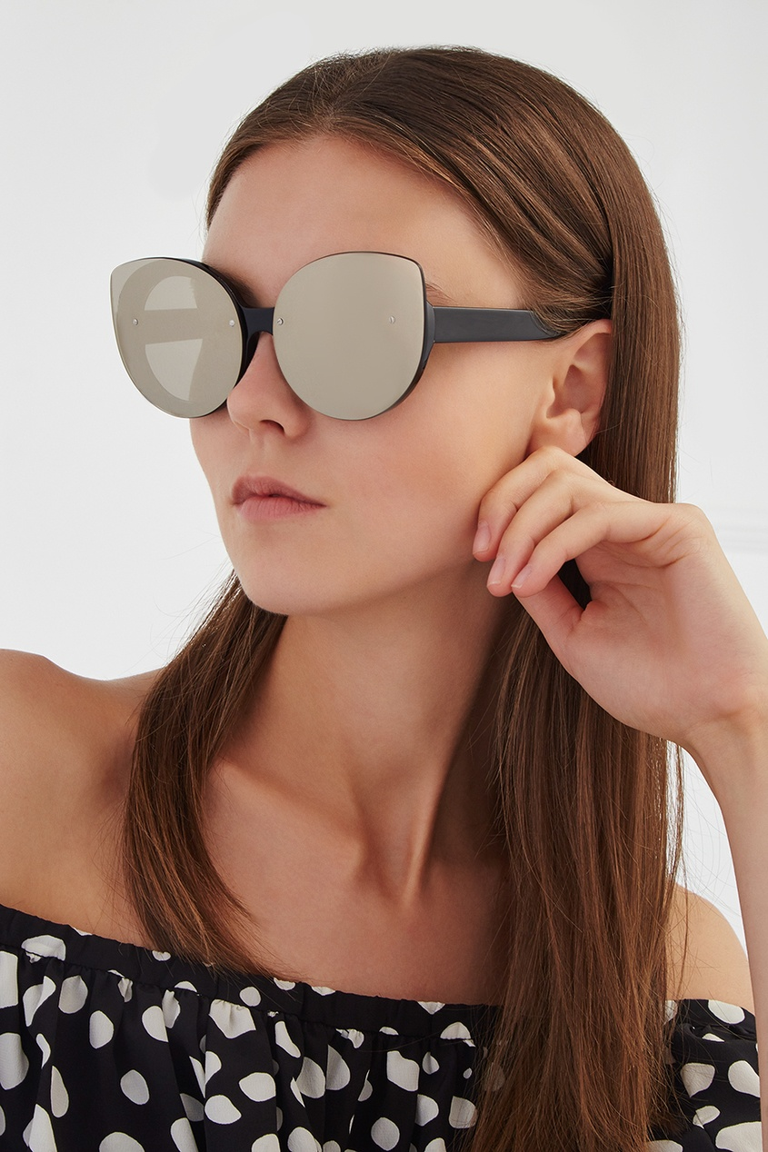 RETROSUPERFUTURE Солнцезащитные очки Rita Black Ivory retrosuperfuture солнцезащитные очки