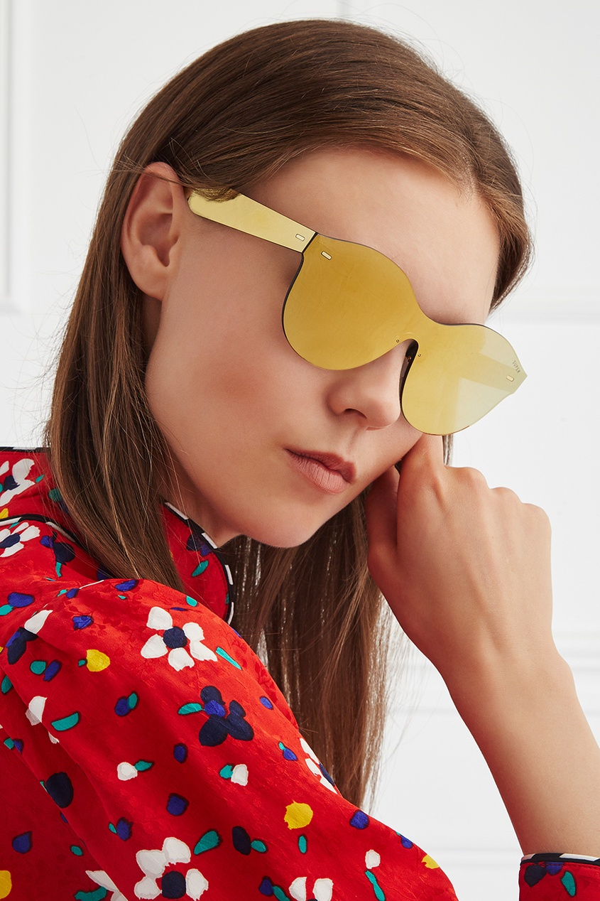RETROSUPERFUTURE Солнцезащитные очки Tuttolente Mona Gold n26 tuttolente lucia black regular