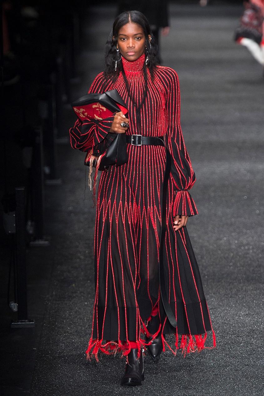 Alexander McQueen Шелковое платье