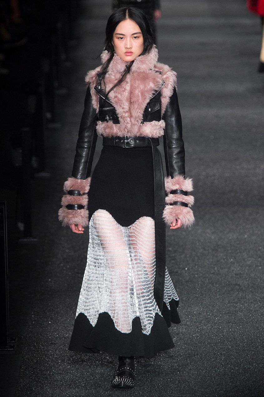 Alexander McQueen Платье из шерсти и кашемира