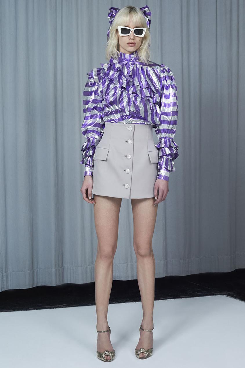 Alessandra Rich Блузка из ламе в полоску блузки linse блузка