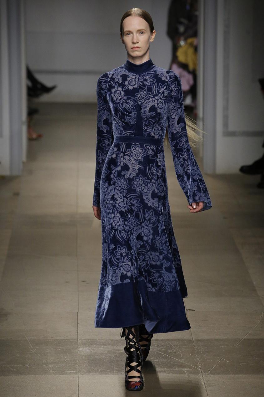 Erdem Платье из бархата «деворе» Christina