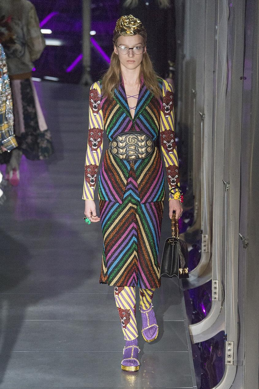 Трикотажная юбка с люрексом