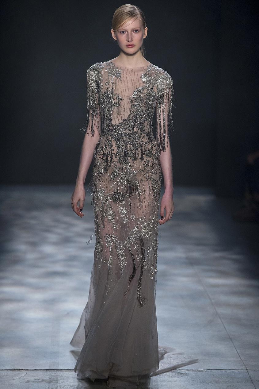 Marchesa Платье с вышивкой marchesa notte короткое платье